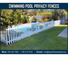 Swimming Pool Fence Dubai | Events Fence Uae | Free Standing Fence Supplier in Uae.