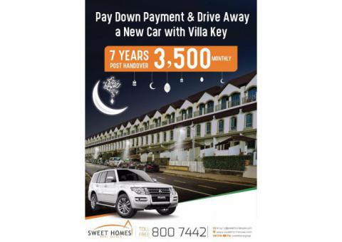 Buy a Ready Villa @ AED 3,500/monthly and Get a Car