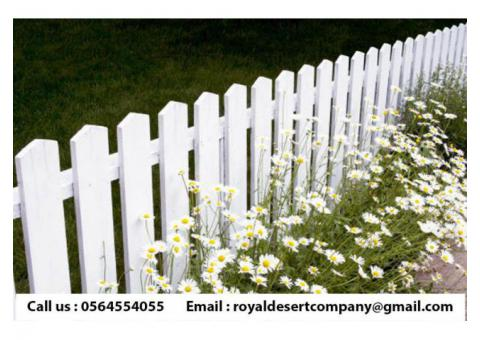 Wooden Fence Abu Dhabi | Garden fence | Picket Fence Dubai