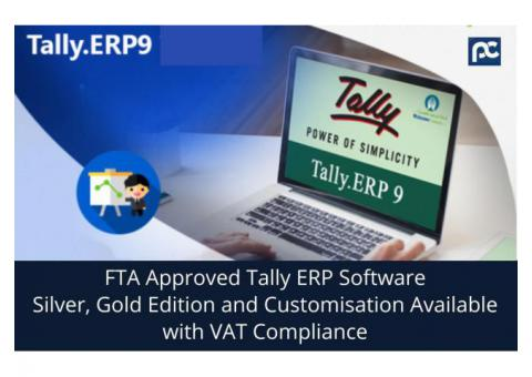 Tally ERP Accounting UAE- VAT compliance| FTA Accredited in UAE, Perfonec