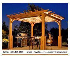 Abu Dhabi Pergola | Creative Wooden pergola | Outdoor Pergola Dubai