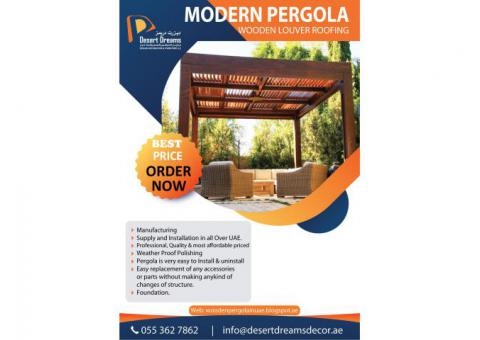 Garden Pergola Dubai | Outdoor Wooden Structure Uae | Wooden Pergola Contractor in UAE.