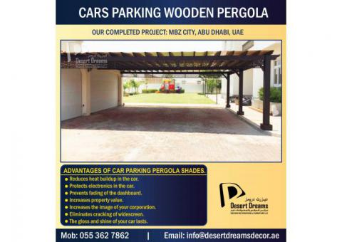 Car Parking Wooden Shades Dubai | Car Parking Wooden Structure in Uae | Car Parking Pergola Dubai.