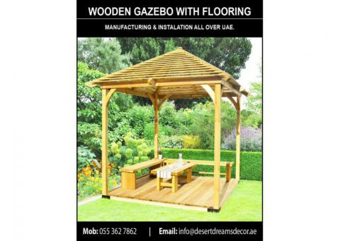 Wooden Roof Gazebo Dubai | Outdoor Gazebo | Wooden Gazebo Supplier in UAE.