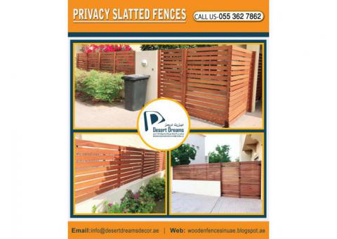 Wooden Slatted Panels Supplier in Dubai | Wooden Louver Fence | Fence Installing in Uae.