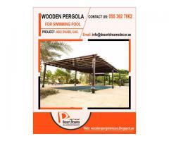 Wooden Flooring Pergola Dubai   Swimming Pool Area Pergola Uae   Barbecue Pergola Uae.