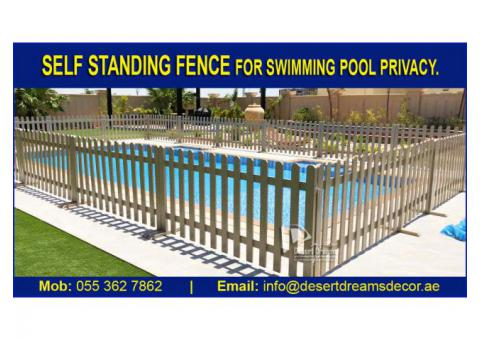 Swimming Pool Fence in Uae | Garden Privacy Fence | White Picket Fence Dubai.