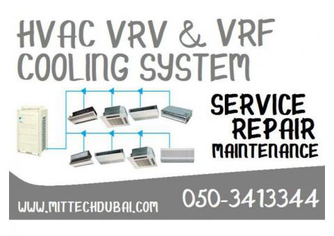HVAC Chiller Ac , VRV VRF Cooling Unit System Service Repair in Dubai