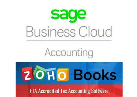 Compare between Zohobooks and Sage One Accounting Software