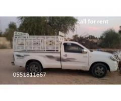 1 Ton Pickup for rent in Dubai 0551811667