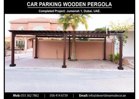 Large Cars Parking Wooden Pergola Uae | Small Cars Parking Pergola in UAE.