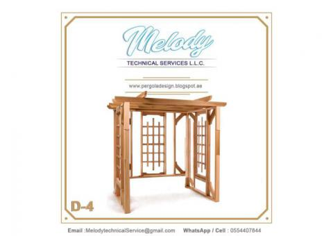 Swing Pergola Design | Wooden Arbors Dubai | Garden Pergola Suppliers UAE