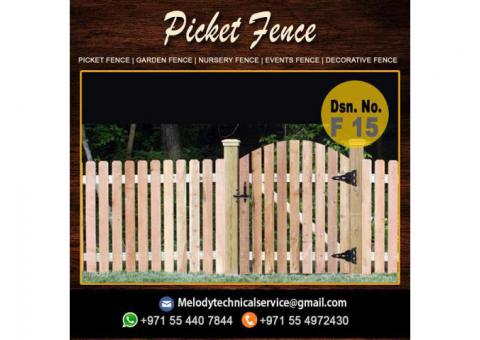 Picket Fence Abu Dhabi | Garden Fence Dubai | Wooden Fence UAE