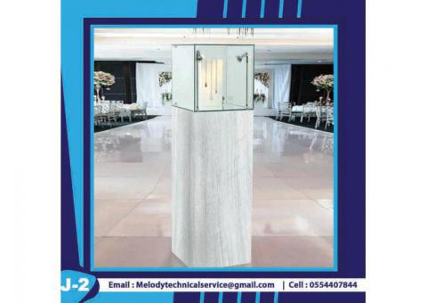 Jewelry Display Showcase Dubai | Wooden Display Stand | Rental Display Stand Dubai