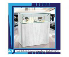 Jewelry Display Showcase Dubai   Wooden Display Stand   Rental Display Stand Dubai
