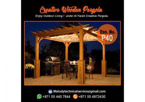 Supply And Build Wooden Pergola Dubai | Pergola Design | Pergola UAE