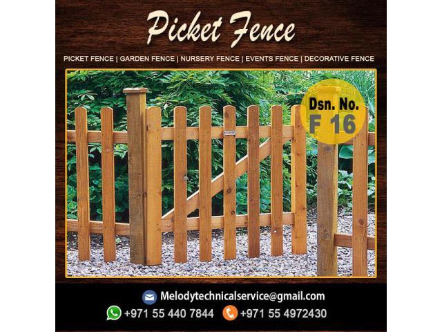 Garden Fencing Dubai | Wooden Fence Abu Dhabi | Picket Fence Dubai