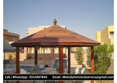 Garden Gazebo Dubai Marina | Wooden Gazebo Jumeirah | Gazebo in Discovery Garden