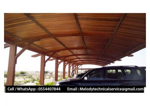Wooden car Parking Al Furjan | Car Parking Shades UAE | Car Parking Pergola Dubai