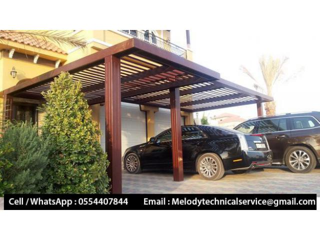 Wooden car Parking Al Furjan | Car Parking Shades UAE | Car Parking Pergola Dubai