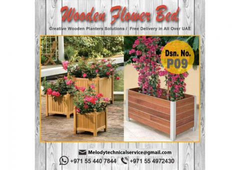 Wooden Planter Box | Garden Planters Dubai | Planters For Dubai Restaurant