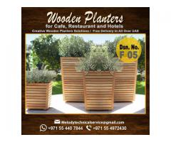 Wooden Planter Box | Garden Planters Dubai | Planters For Dubai Restaurant
