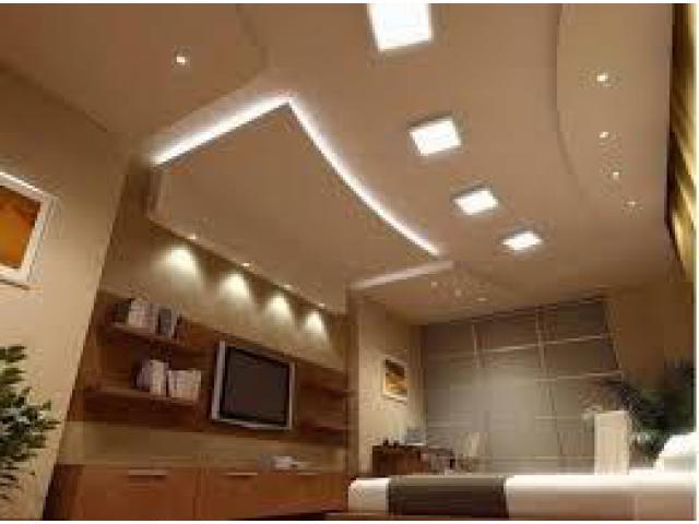 Call on 050 2097517,  False ceiling works, Cornice works, Gypsum board works, Interior Decoration