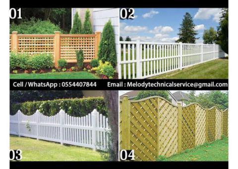 Wooden Fence Dubai Meadows | Garden Fence in The Springs | Wooden Fence In Al Furjan
