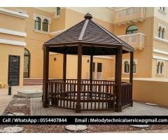 Gazebo The Springs | Garden Gazebo Al Barsha | Wooden Gazebo Discovery Garden