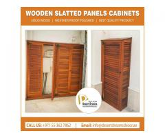 Slatted Panels Dubai | Wall Slatted Panels Uae | Horizontal Wood Panels Dubai.