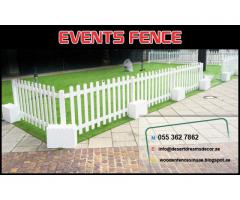 Vertical Wooden Fence Dubai | Swimming Pool Area Fence | Kids Play Fence Dubai.