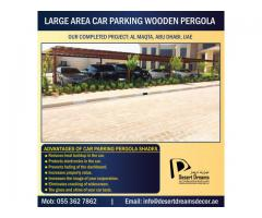 Car Parking Shades Wooden Uae | Wood Pergola Supplier in Dubai | Villa Parking Pergola Uae.