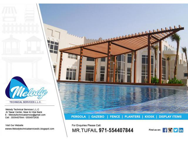 Pergola in Jumeirah Golf Estates | Wooden Pergola UAE | Pergola in Victory Heights, Dubai
