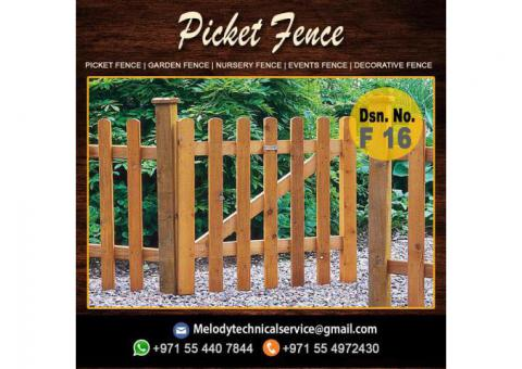 Garden Fence Suppliers Dubai | Picket Fence Dubai | Wooden Fence UAE