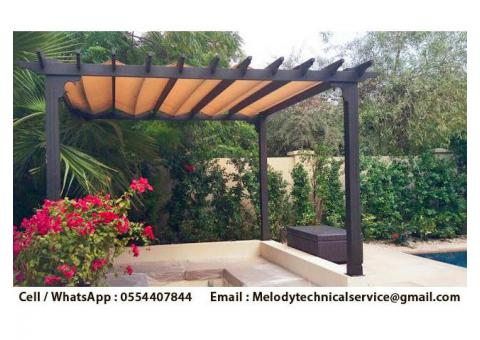 Pergola in Dubai | Pergola Suppliers UAE | Seating Area Wooden Pergola