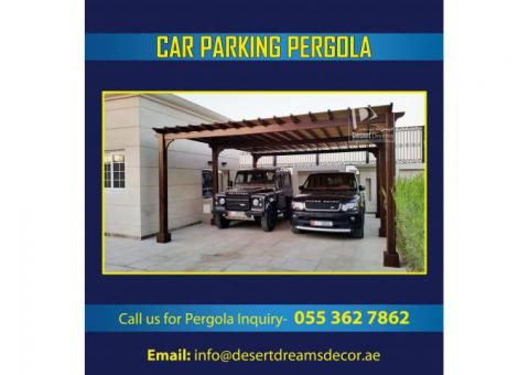 Car Parking Shades Wooden   Car Parking Pergola Manufacturer All Over Uae.