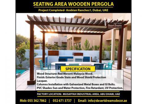 Wooden Pergola Arabian Ranches Dubai   Sun Shades Pergola Uae   Wooden Pergola Builder Dubai.