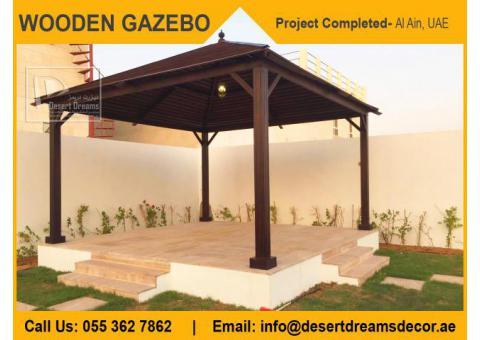 Slat Roofing Wooden Gazebo Dubai   Octagon Gazebo   Square Gazebo   Gazebo Supplier in Uae.