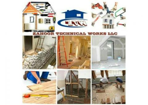 RENOVATE YOUR OFFICE WITH GLASS PARTITION, PARQUET FLOORING, TILE CARPET BLINDS