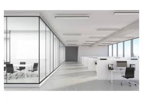 SHOWER/OFFICE Glass Partition,sand blasting, Lamination Film Installation 0525868078