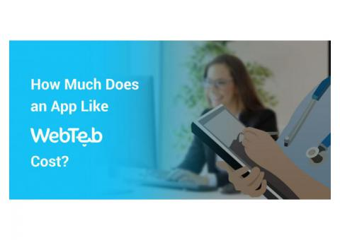 How Much Does it cost to develop an app like WebTeb?