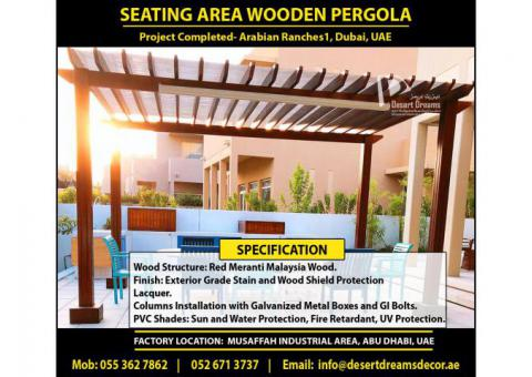 Professional Wooden Pergola and Wooden Gazebo Work in UAE.