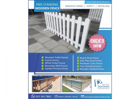 Dubai Events Fences | Garden Privacy Fences | White Picket Fences in UAE.