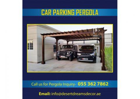 Car Parking Shades Supplier in Dubai | Car Parking Wooden Pergola in UAE.