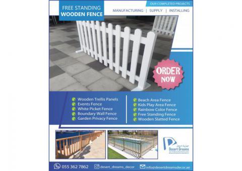 White Picket Fences in UAE | Events Fence Abu Dhabi | Wood Fencing in Dubai.