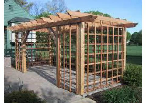 call 050 209 7517, Wood Pergola, kitchen cabinet, wardrobe closet, garden shed, Baby Door / fence