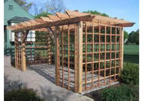 call 050 209 7517, Wood Pergola, kitchen cabinet, wardrobe closet, garden shed, Baby Door / fence