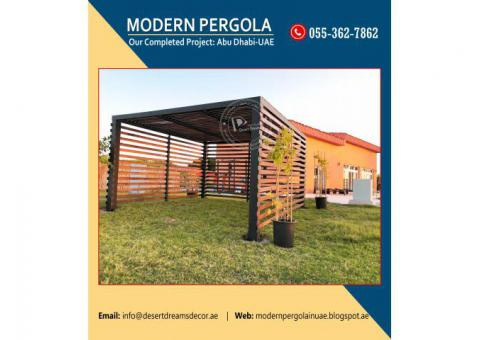 Garden Pergola Dubai | Seating Area Pergola Uae | Wooden Pergola in Uae.