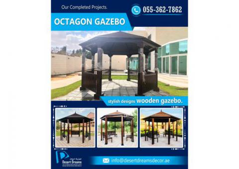 Wooden Roofing Gazebo Uae | Garden Gazebo | Gazebo Supplier in Uae.