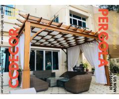 Front-yard Wooden Pergola in Dubai, Abu Dhabi, Ajman
